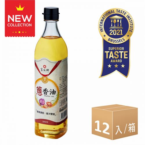 新品上市-蔥香油(500ml)12入組
