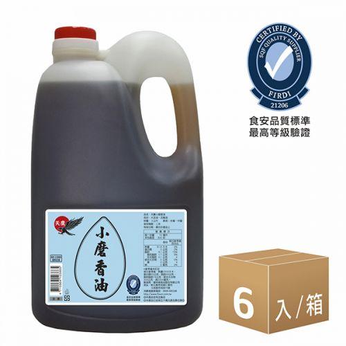 天鷹芝麻香油-小磨(3L)6入組